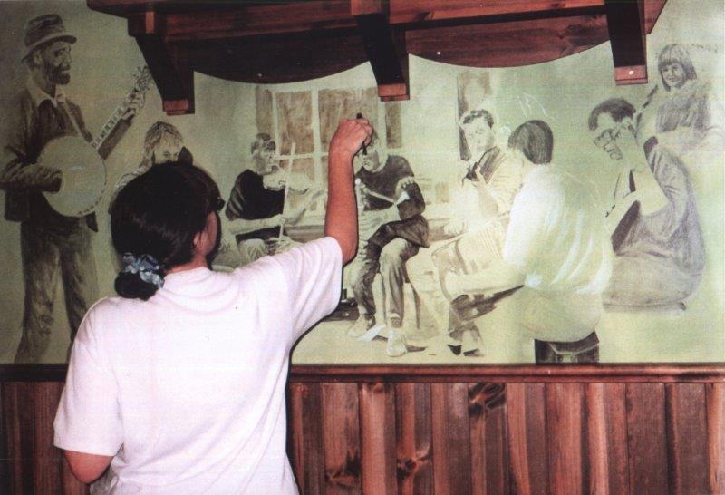 Mural - musicians