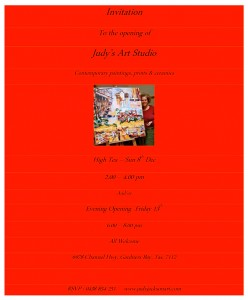 Invitation to Judy's Studio