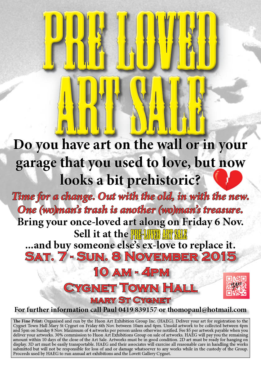 Pre-Loved art sale A3 Poster-small
