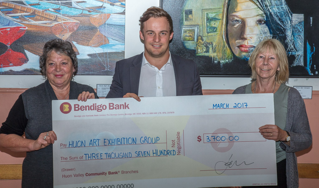 Huon Valley Community Bank Branches Giant Cheque