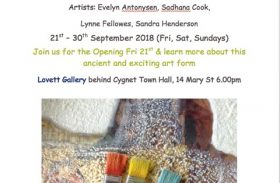"21-30 September 2018 – ""Waxing On"" Encaustic Exhibition"