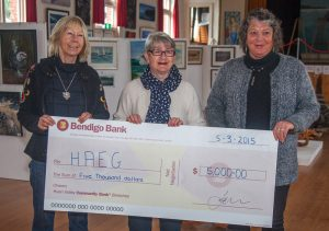Bendigo Bank sponsorship cheque
